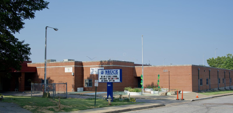 Bruce Elementary School, Memphis, Tennessee fotografía de archivo libre de regalías