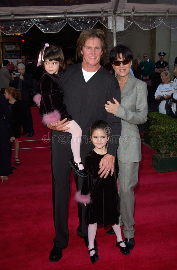 Bruce Jenner. Actor BRUCE JENNER & family at the world premiere in Hollywood of Disney's The Emperor's New Groove. 10DEC2000. Paul Smith/Featureflash royalty free stock photo