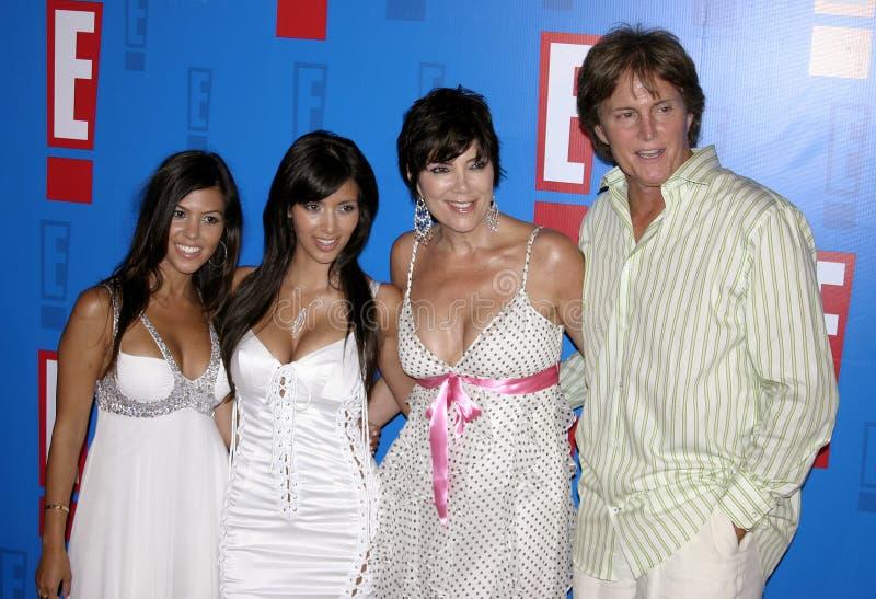 Bruce Jenner, Kris Jenner, Kim Kardashian et Kourtney Kardashian aka Caitlyn Jenner images libres de droits