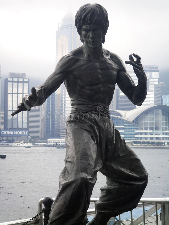 Bruce Lee Hong Kong royalty free stock image