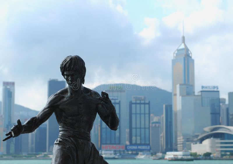 Bruce Lee - Hongkong stock foto