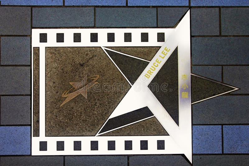 Bruce Lee star at the Avenue of Stars stock photography