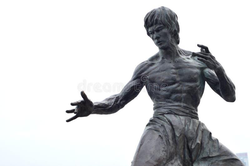 Bruce Lee Statue stock afbeeldingen