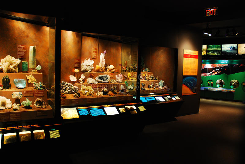 Bruce Museum Geology Display stock photo