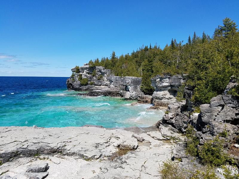 Bruce peninsula national park royalty free stock image