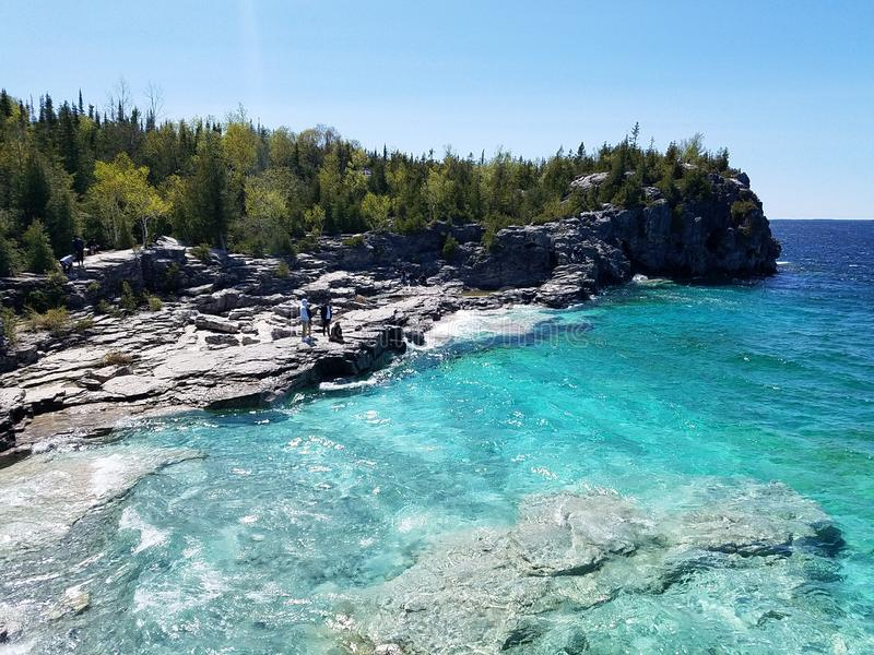 Bruce peninsula national park royalty free stock photography