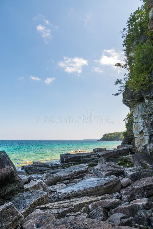 Bruce Peninsula shoreline at Cyprus Lake National Park Ontario o stock photo