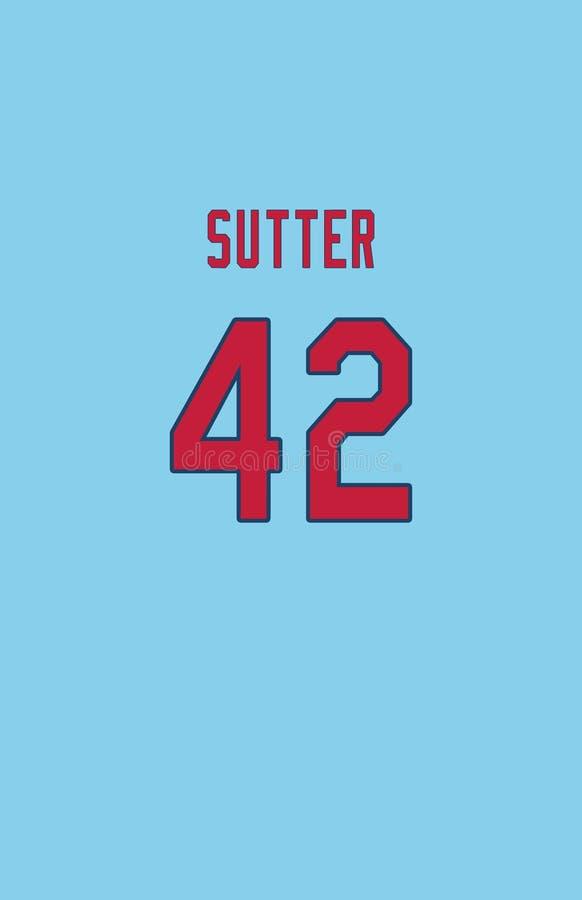 Bruce Sutter, St Louis Cardinals Jersey Back photo stock