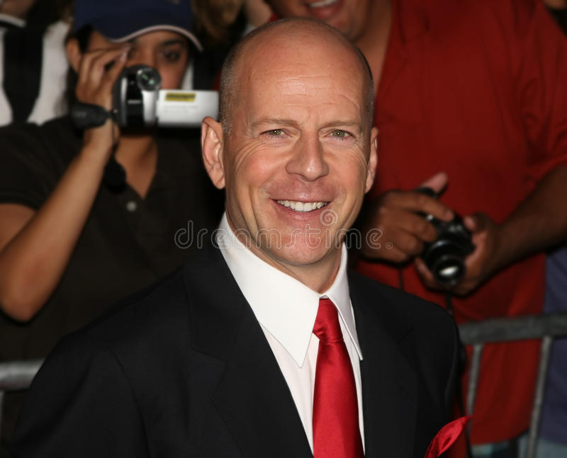 Download Bruce Willis editorial stock image. Image of arrival - 23220219