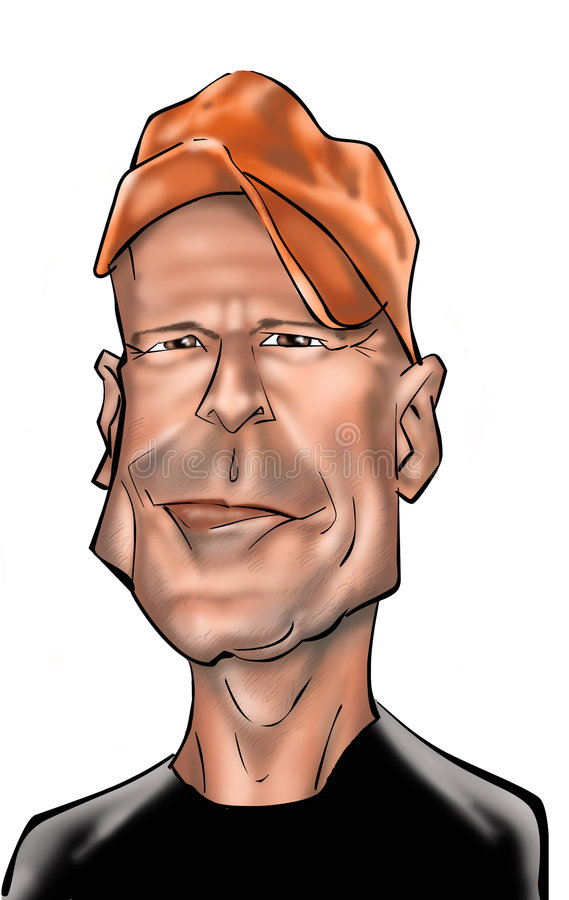 Bruce Willis royalty free illustration