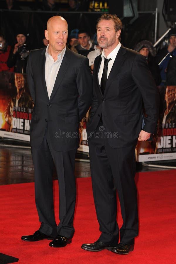 Bruce Willis, Sebastian Koch stock foto's