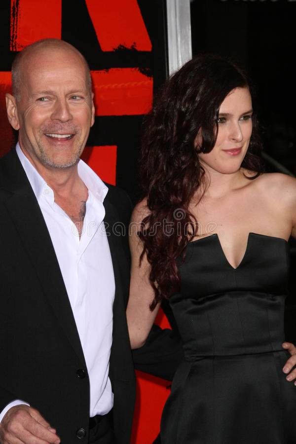 Bruce Willis, Rumer Willis stock foto