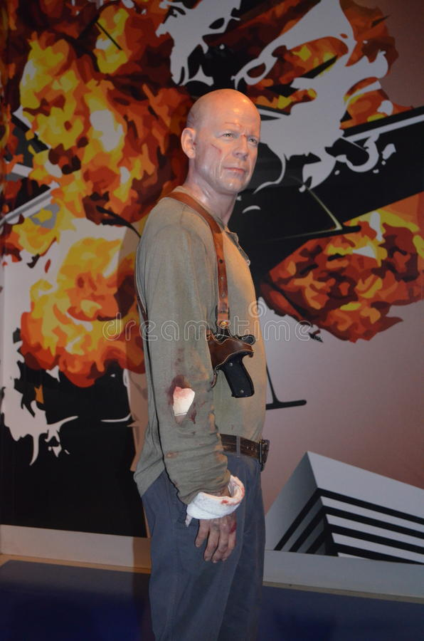 Bruce Willis Wax Figure photographie stock