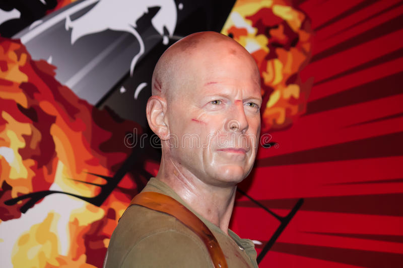 Bruce Willis Wax Figure arkivfoto