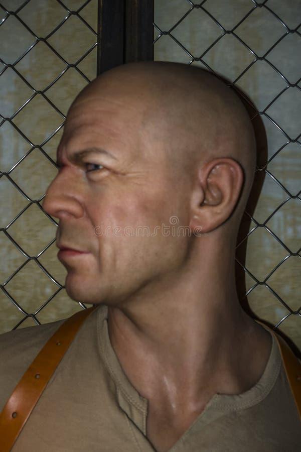 Bruce Willis Wax Figure fotografia de stock