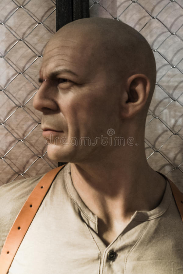 Bruce Willis wax figure stock images
