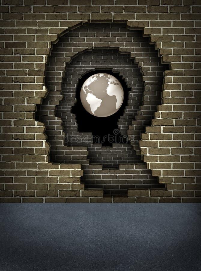Bruch durch die Wände zum Erfolg lizenzfreie abbildung