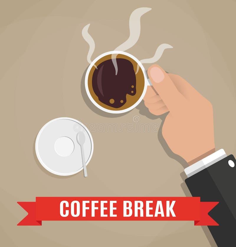 Bruch für einen Tasse Kaffee stock abbildung