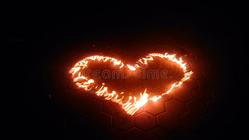 Bruci il vostro amore fotografie stock