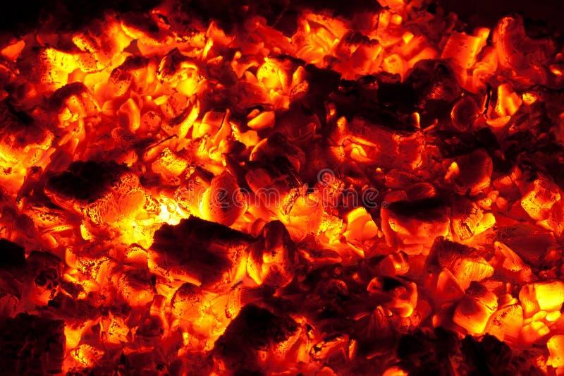 Bruci senza fiammaare la struttura del carbone di legna fotografia stock