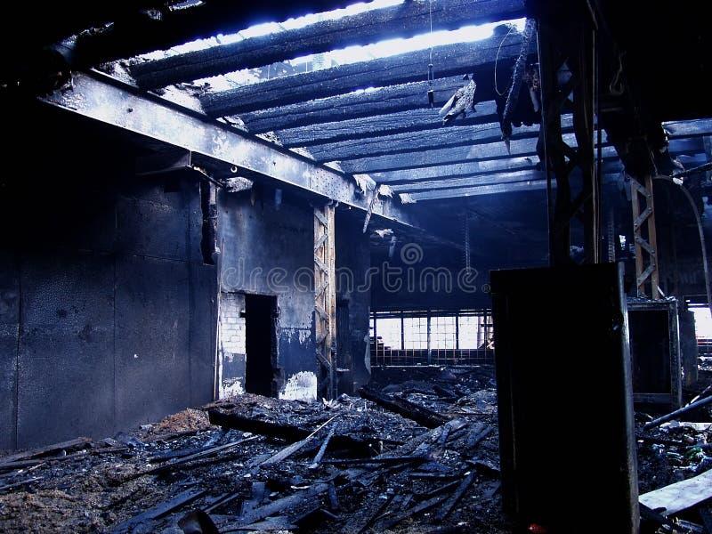 Bruciato giù 1 fotografie stock libere da diritti