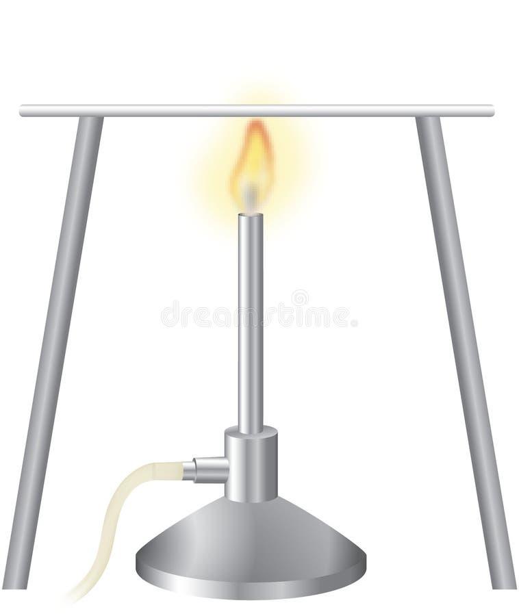 Bruciatore di Bunsen 1 royalty illustrazione gratis