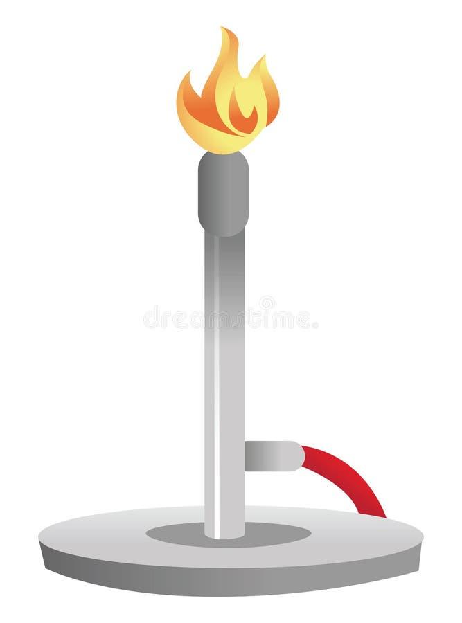 Bruciatore di Bunsen illustrazione di stock