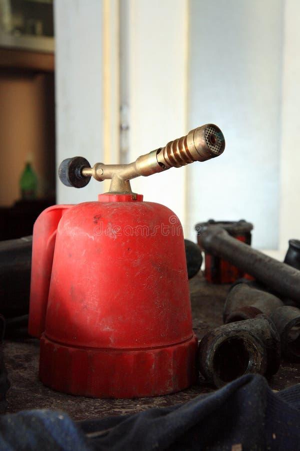 Bruciatore a gas immagini stock