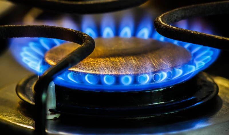 Bruciatori a gas naturali della stufa fotografie stock libere da diritti