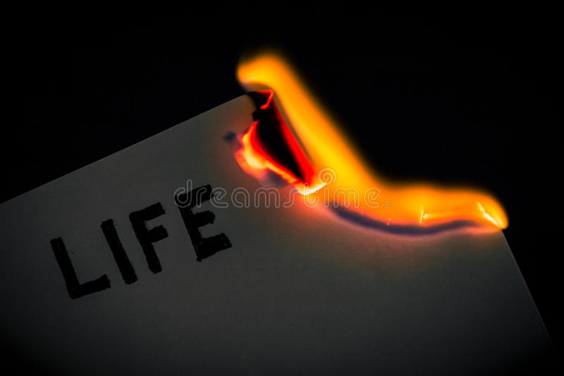 Bruciatura dello strato fotografia stock