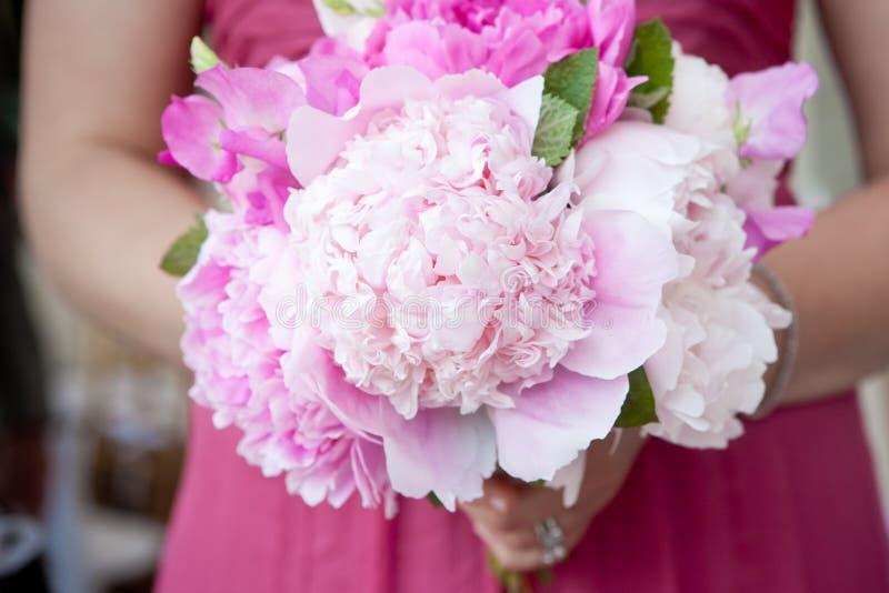 brud- blommapink för bukett royaltyfri fotografi