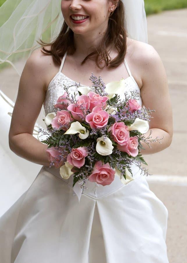 brud- bröllop för bukett royaltyfria foton