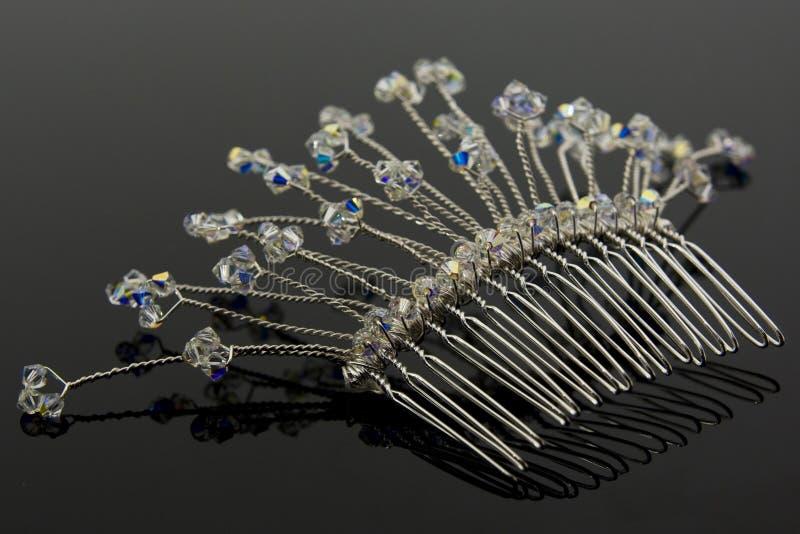 brud- hårkamhår royaltyfria bilder
