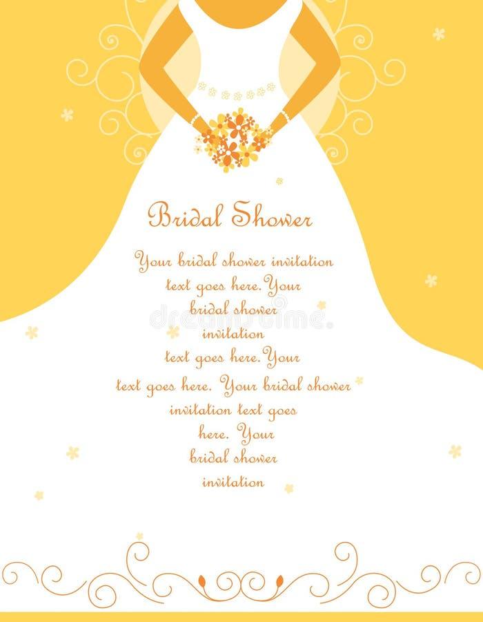 brud- inbjudanduschbröllop stock illustrationer