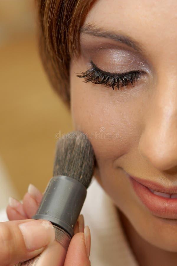 brud- makeup royaltyfri fotografi