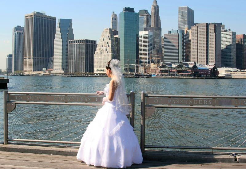brud New York royaltyfri fotografi