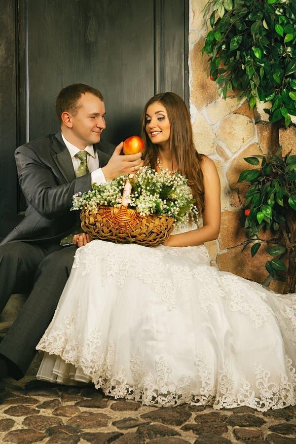 Brud och brudgum royaltyfri foto