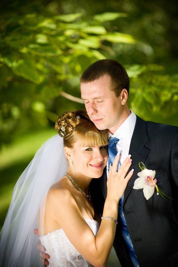 brudbrudgum royaltyfri foto
