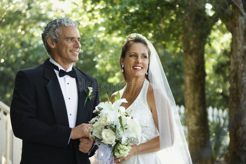 brudbrudgum royaltyfria bilder