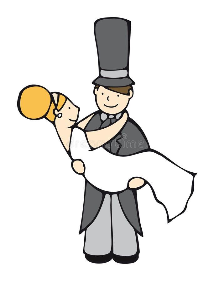 brudbrudgum vektor illustrationer