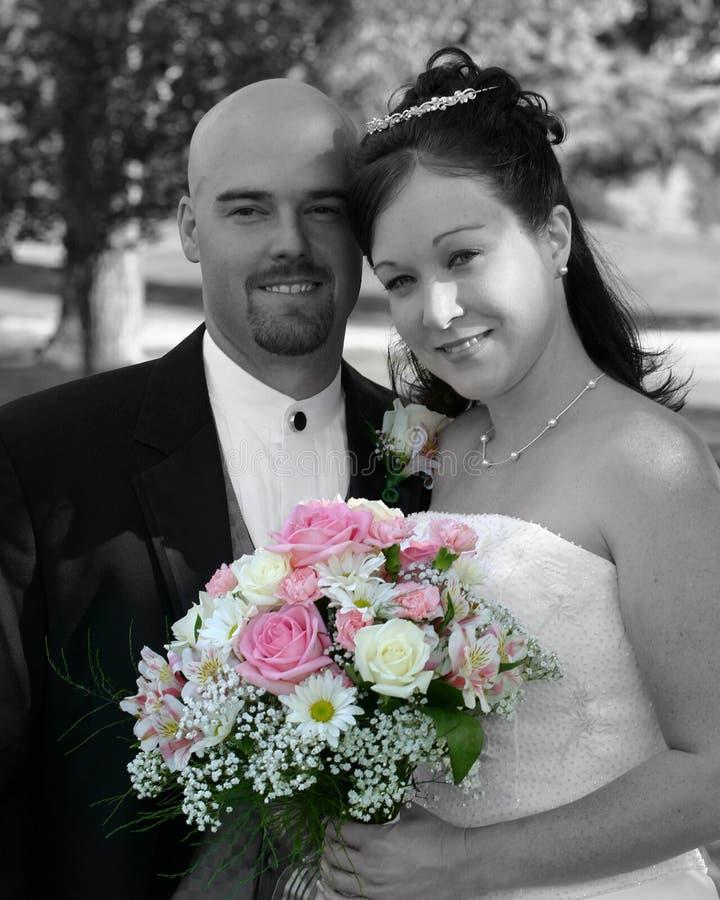 Download Brudbrudgumbröllop arkivfoto. Bild av spänning, koppling - 279558