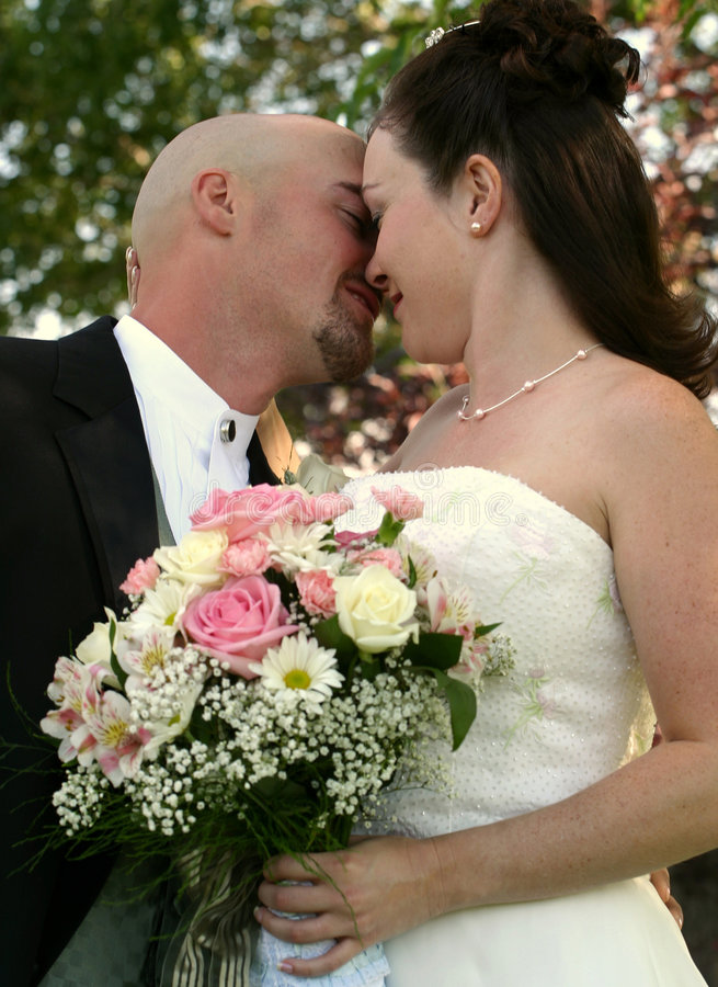 brudbrudgumbröllop arkivbild