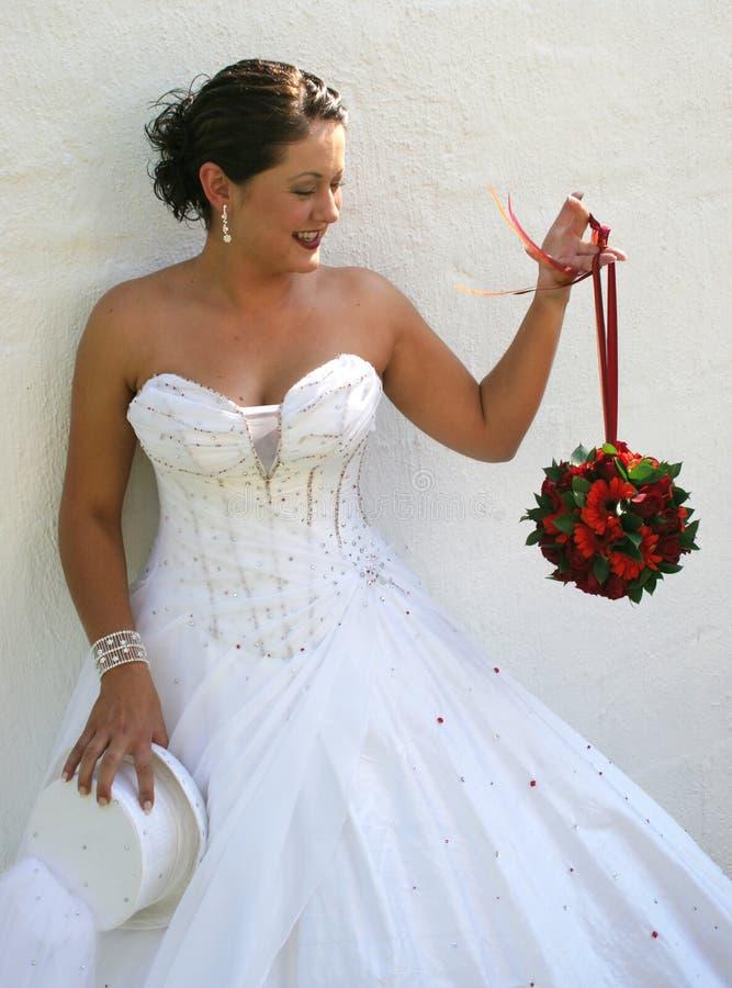 Bruddag Henne Bröllop Arkivfoto