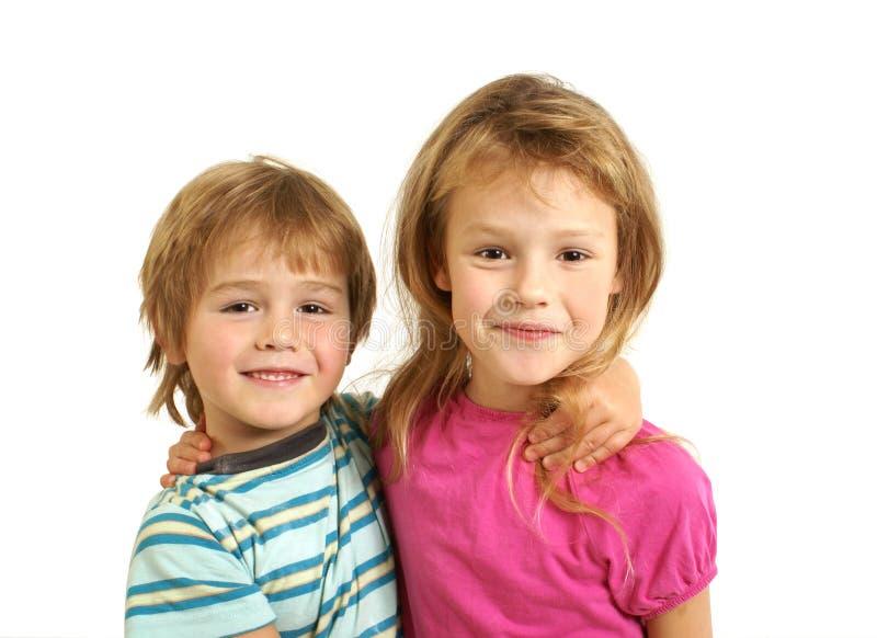 Bruder und Schwester stockbild. Bild von viele, familie