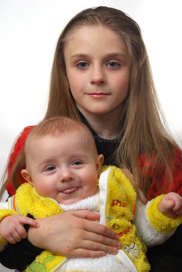 Bruder und Schwester lizenzfreie stockbilder