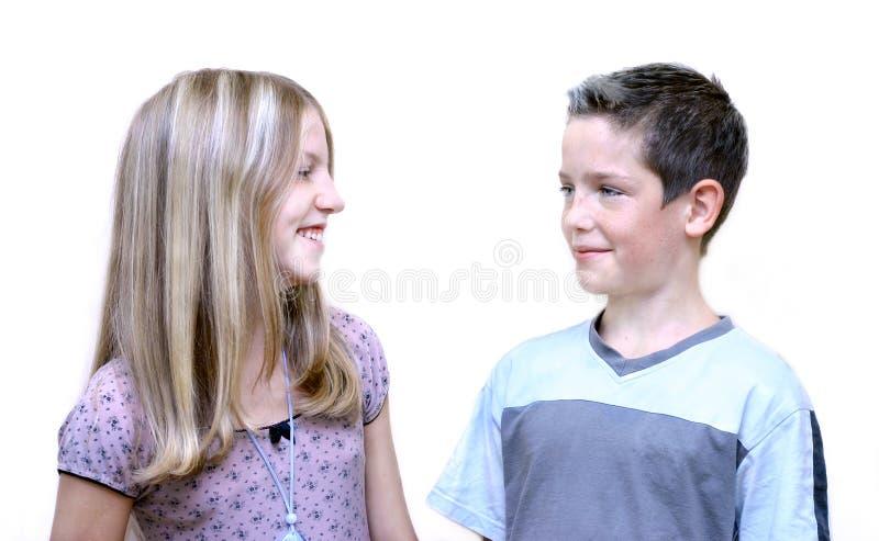 Download Bruder und Schwester stockbild. Bild von weiß, zicklein - 46409