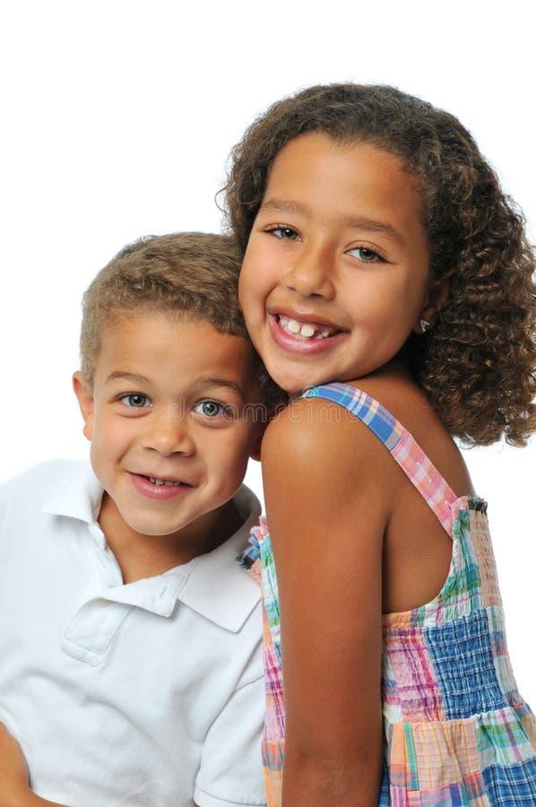 Bruder und Schwester stockbild