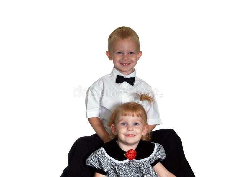 Bruder-und Schwester-Portrait stockfotos