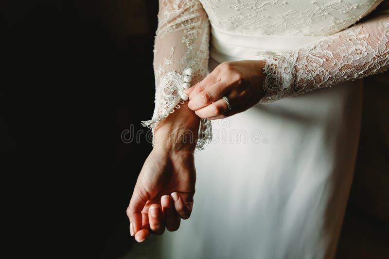 Brudhänder arkivfoton