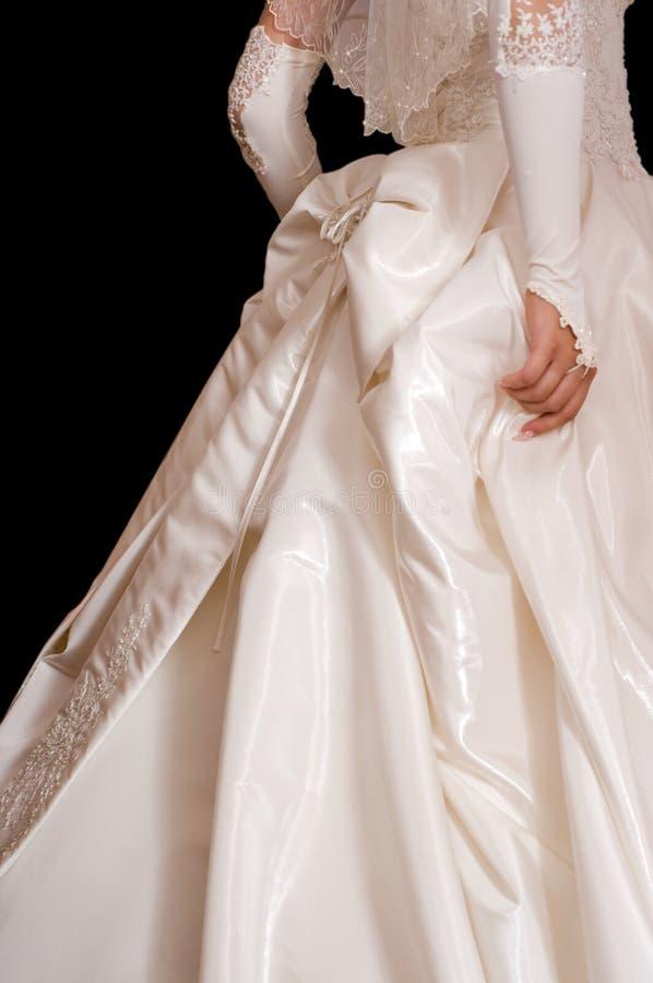 brudklänningbröllop royaltyfri bild